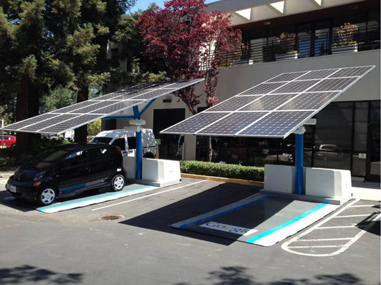 New Solar Powered Electric Charging Station Announced In